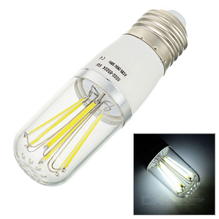 E27 6W LED Bulb Lamp Cold White Light 6-COB (AC 85~265V)