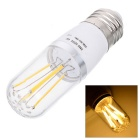 E27 4W LED Bulb Lamp Warm White Light 3500K 620lm 6-COB