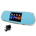 "5"" 1080P Android Car Rearview Mirror DVR w/ GPS / RU Map - Silver"