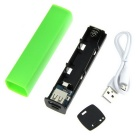 DIY Lipstick Shape Single 18650 Power Bank Cover Case - Green + Black