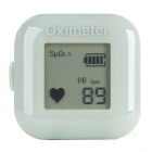 "1"" LCD Screen USB Rechargeable Ring Fingers Fingertip Pulse Oximeter - Grey"