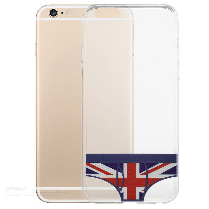 Creative Fashion UK Flag Pattern Underwear Style TPU Back Case for IPHONE 6 Plus / 6S Plus
