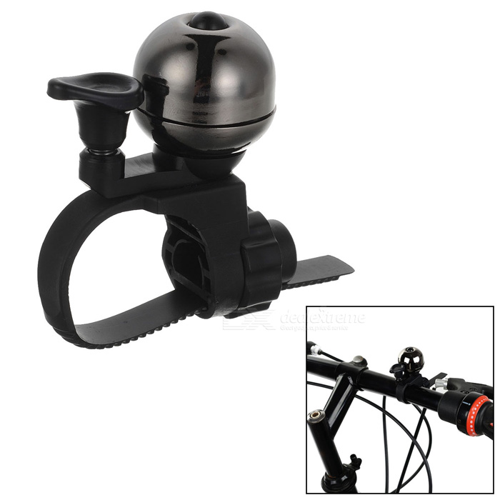 CTSmart para Bicicleta Mini Seguridad Ultra-Loud Advertencia Bell - Negro + Gris
