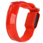 Outdoor Cycling Reflective Safety 4-Mode LED Nylon Armband w/ Buckle - Black + Red (2 x CR2032)
