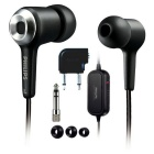 Genuine Philips SHN2500 Noise Canceling In-Ear Headphones - Black