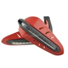 Yellow LED Motorcycle Hand Guards for 12mm Handlebar - Red (Pair)