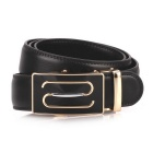 Fanshimite S01 Men's Automatic Buckle Cow Split Leather Belt - Black (115cm)