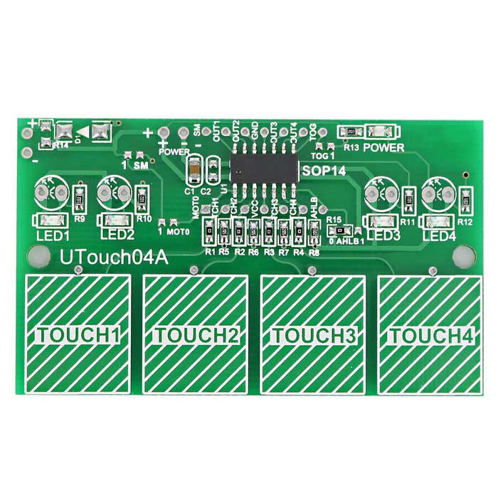 4-Channel Digital Capacitive Touch Sensor Switch Module for Arduino