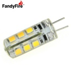 FandyFire G4 2W LED Bulb Lamp Warm White Light 3000K 400lm 24-SMD 2835 (DC 12V)