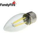 FandyFire E27 4W 4-COB LED Glass Decorative Bulb Lamp White Light 6500K 700lm (AC 220V)