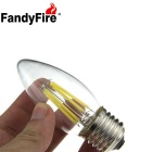 FandyFire E27 4W 4-COB LED Glass Decorative Bulb Lamp Cold White Light