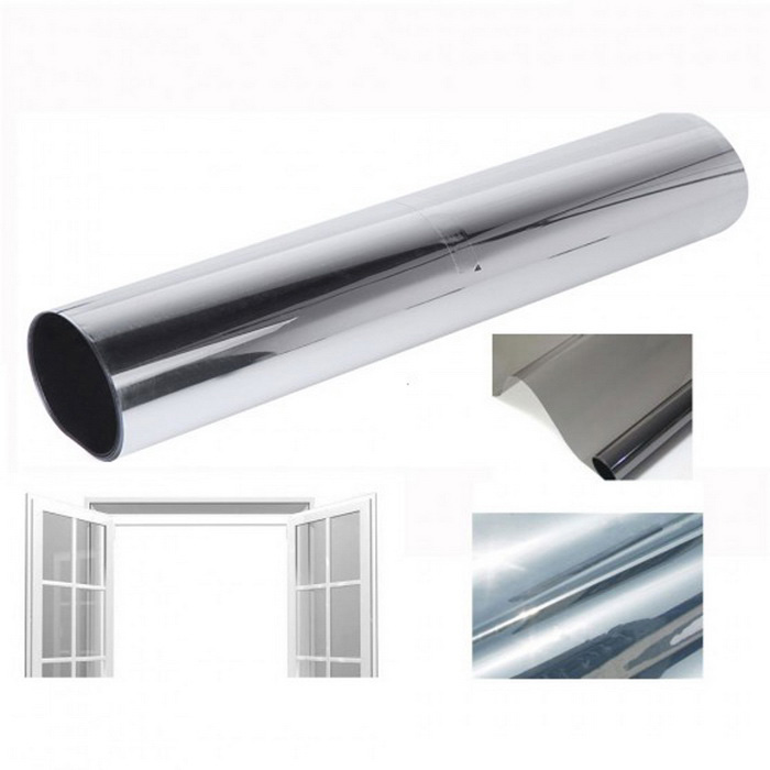 50x300cm Household Glass Window Privacy Tinting Film - Silver
