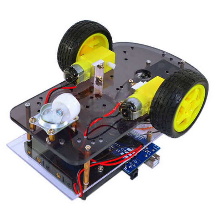 Ultrasonic smart wheel robot car kits for arduino free