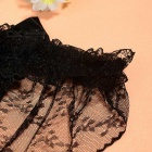 Sexy See-Through Ropa interior Bare glúteos Lace Bowknot Thong G-String Bragas para la Mujer - Negro