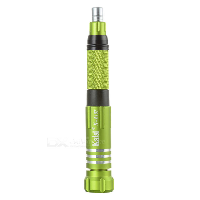 Kaisi K-8107 Multifunction Screwdriver for IPHONE 4~6S / IAPD Air + More - Green