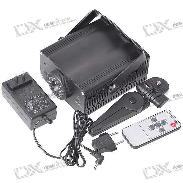 50mW Green + 100mW Red Laser Stage Lighting Projector with Sound Mode/IR Remote (110V~240V AC)