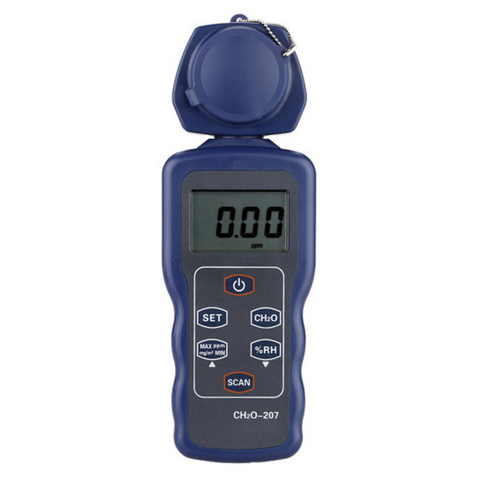 Portable Formaldehyde CH2O Tester HygrometerOther Measuring &amp; Analysing Instruments<br>Form  ColorBlue + BlackModelN/AQuantity1 DX.PCM.Model.AttributeModel.UnitMaterialABSScreen Size1.5 DX.PCM.Model.AttributeModel.UnitPowered ByOthers,9V BATTERYBattery Number1Battery included or notNoPacking List1 x Formaldehyde Tester(battery not included) 1 x Bag 1 x English User Manual<br>