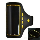 "Outdoor Sports 3-Mode LED Armband Pouch Case Arm Bag fior 5.1"" Phones - Black + Yellow"