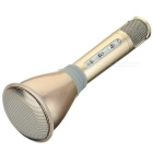 TUXUN K068 Bluetooth V3.0 Mobile KTV Speaker - Champagne Gold