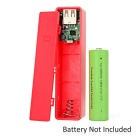 "0.7"" LCD Screen 1 x 18650 Battery Mobile Power Bank Case for IPHONE - Watermelon Red"