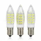 E14 5W LED Bulb Lamp Cold White Light 44-SMD 2835 Bullet Shape