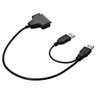 "USB 2.0 to 22-Pin SATA Converter Adapter Cable for 2.5"" HDD - Black"