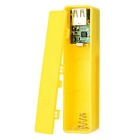 "0.7"" LCD Screen 1 x 18650 Battery Mobile Power Bank Case for IPHONE - Yellow"