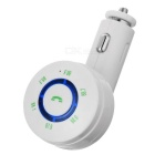 Bluetooth MP3 Player & FM Transmitter Hands-Free Car Kit w/ USB 2.0 Charger / TF Card Slot - White