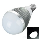 E14 7W LED Globe Bulb Lamp White Light 6000K 460lm 15-SMD 5730 - Silver + White (AC 220V)