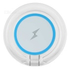 Universal Phone Built-in Qi Standard Wireless Charger w/ Blue Indicator Light - White + Blue