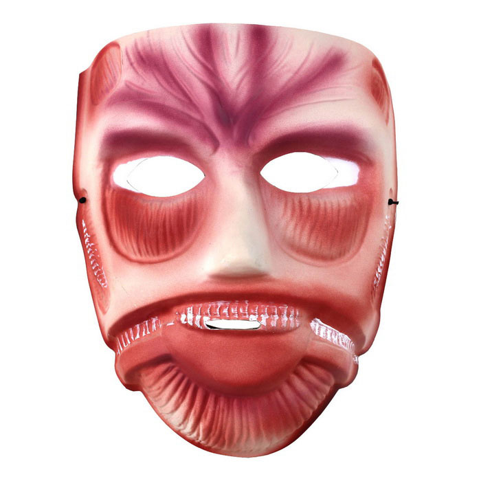 Plast Muscle Folk ansiktsmaske for Cosplay / kostyme Ball / Parti