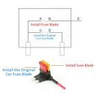 Car Fuse TAP Adapter S-Sized Blade Fuse Holder - Black + Red (5PCS)