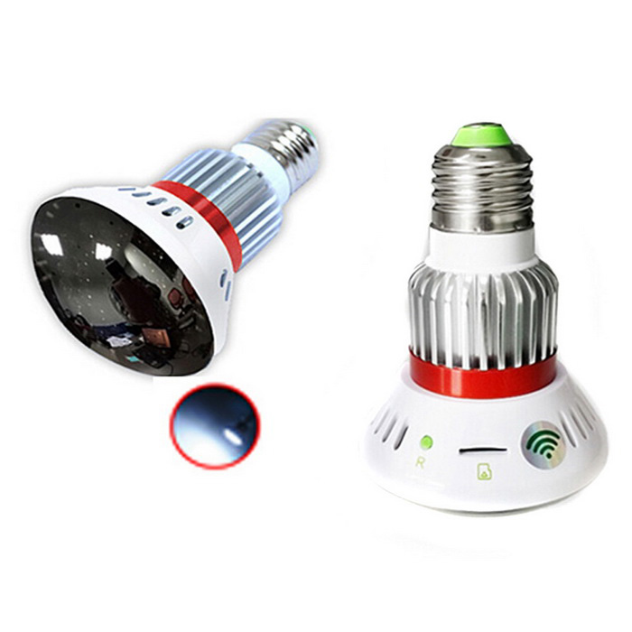 BC-785WM HD720P CMOS Wi-Fi Bulb IP Camera - Silver + White