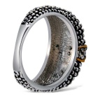 Xinguang Women's Retro Crystal Finger Ring - Antique Silver (US Size 8)