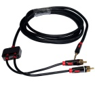 Inicio audio de 3.5mm Mini macho a RCA macho Cable de audio - Negro (2,13 m)