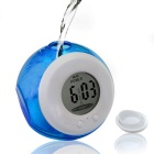 Eco-Friendly Water Powered Clock No-Alarm Clock w/ Digital LCD - Blue