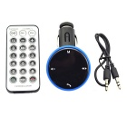 Bluetooth V2.1 Car MP3 Player FM Transmitter w/ USB 2.0 / SD Card Slot / Hands-Free - Black + Blue