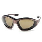 Panlees QM139 Cool Anti-Wind Polarized Motorcycle Sunglasses Goggles w/ Replaceable Temple - Tawny