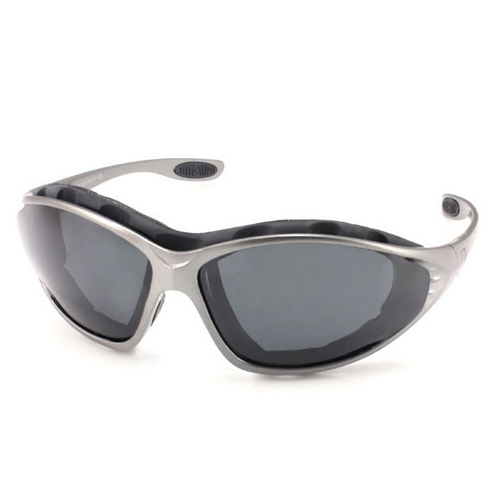 Panlees QM139 Anti-Wind Polarized Motorcycle Sunglasses Goggles w/ Replaceable Temple - Gun Grey
