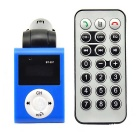 "0.8"" Bluetooth V2.1 Car MP3 Player FM Transmitter w/ USB 2.0 / SD Card Slot - Black + Blue"