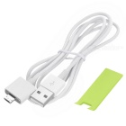 Magnetic Detachable Micro USB to USB Data Sync & Charging Cable for Android Cellphones - White