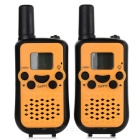 "Beihaidao Fashion Portable 0.8"" 22-CH 400~470MHz Mini Walkie Talkie w/ Flashlight - Black + Yellow"
