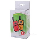 "Beihaidao Mode Portable 0.8 ""22-CH 400 ~ 470MHz Mini Walkie Talkie w / zaklamp - Zwart + Geel"