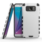 MO.MAT Dual Layer Hybrid Armor Defender Hard Protective Case for Samsung Note 5 - White + Black