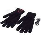 Smart Bluetooth Gloves w/ Handsfree / Touch Screen Function - Black (Pair)