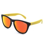 OSSAT MX-1002 UV Protection Red REVO Polarized Lenses Outdoor Sports Sunglasses - Black + Yellow