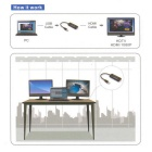 CY U3-167 USB 3.0 & 2.0 a HDMI adaptador para windows / mac - negro