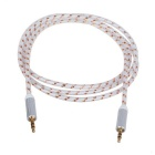 3.5mm Male to Male Line-in Aux Audio Cable - White (150cm)