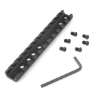 D0023 20mm Aluminium Tactical 6-Hole Gun Rail Mount - Zwart