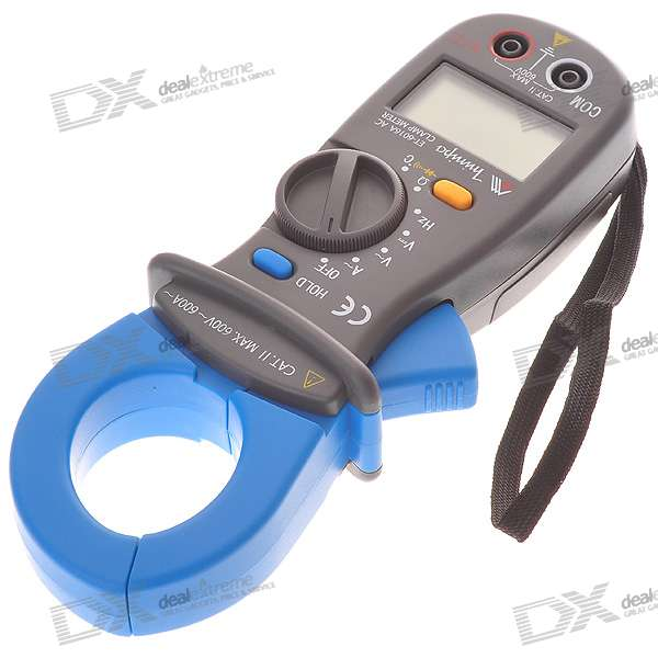 "2.0"" LCD Handheld Auto-Range Digital Clamp Multimeter (Voltage + Current + Resistance / 1*6F22)"